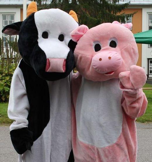 Biotalouskampuspäivä_lehmä ja possu_2